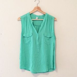 2/$20 Old Navy mint green popover tank top